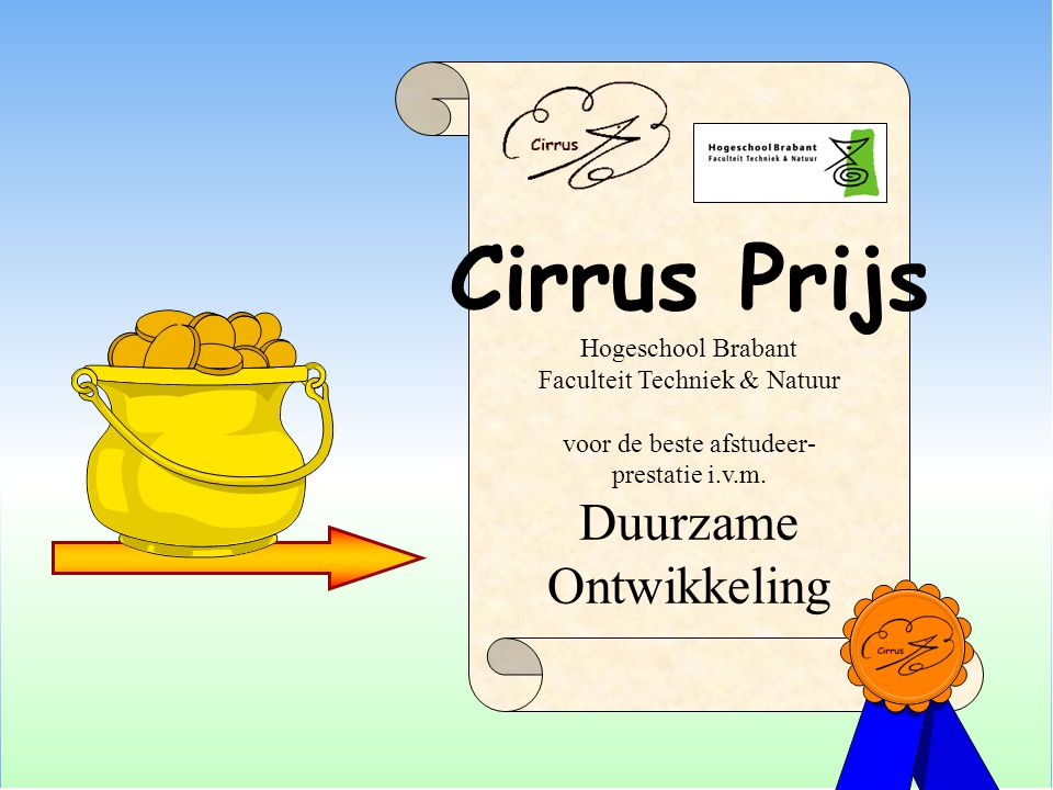 Cirrus Prijs Duurzame Ontwikkeling Hogeschool Brabant