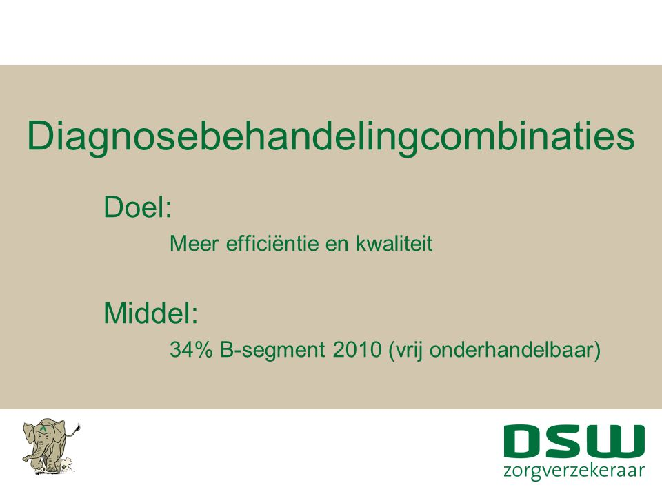 Diagnosebehandelingcombinaties
