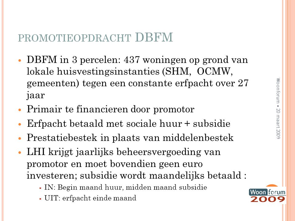 promotieopdracht DBFM