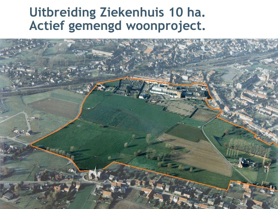 Uitbreiding Ziekenhuis 10 ha. Actief gemengd woonproject.