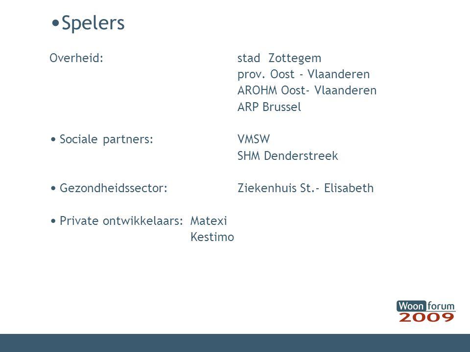 Spelers Overheid: stad Zottegem prov. Oost - Vlaanderen AROHM Oost- Vlaanderen ARP Brussel.
