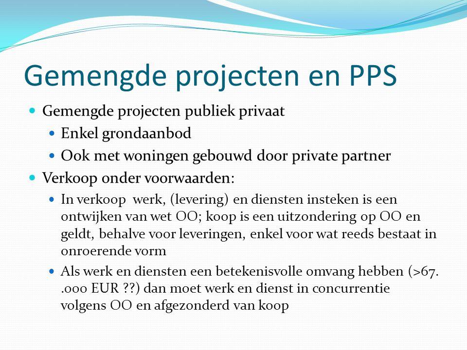 Gemengde projecten en PPS