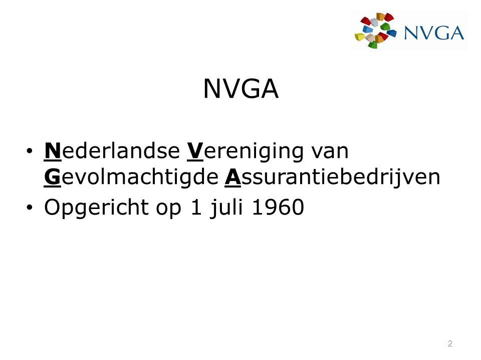 NVGA Nederlandse Vereniging van Gevolmachtigde Assurantiebedrijven