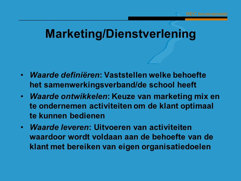 Marketing/Dienstverlening