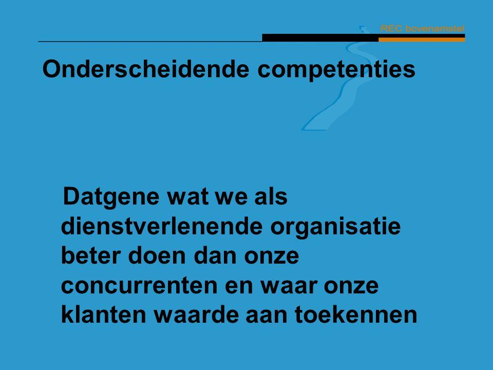 Onderscheidende competenties