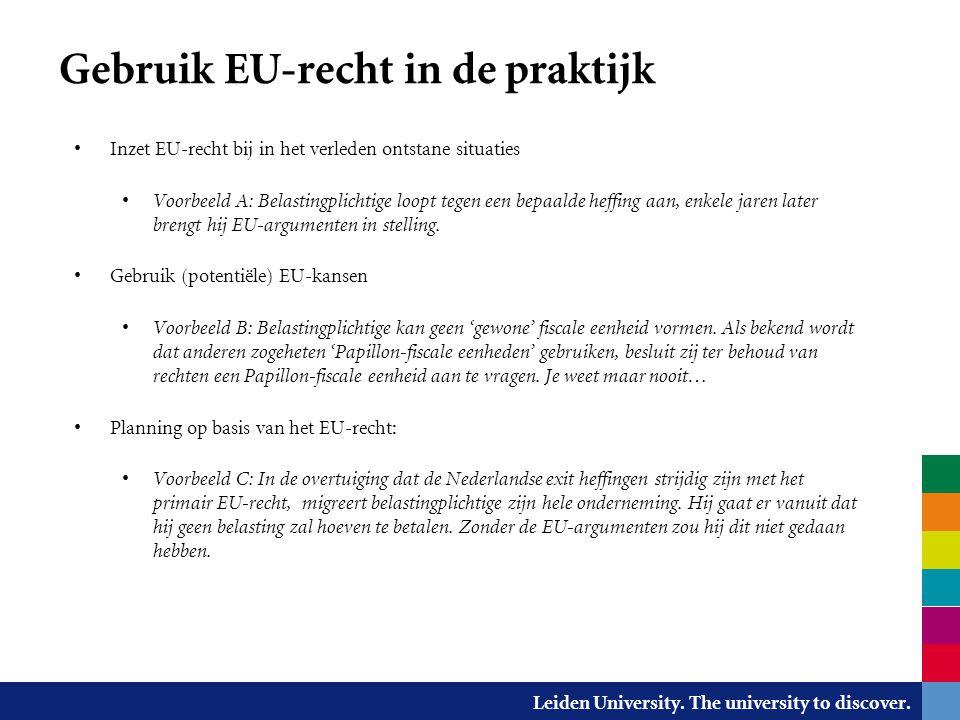 Gebruik EU-recht in de praktijk