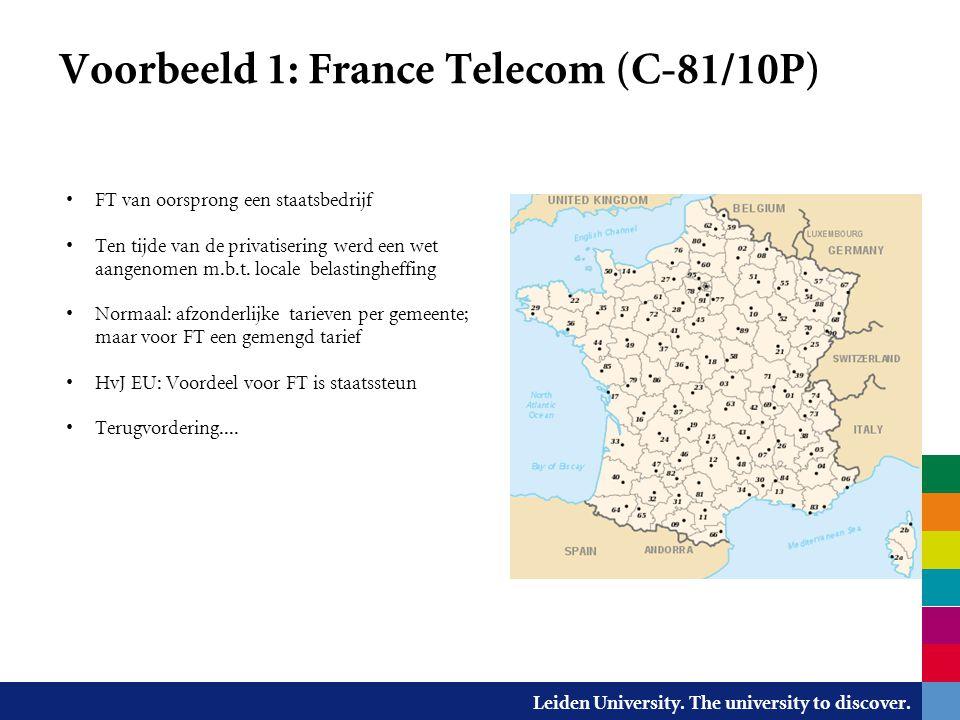 Voorbeeld 1: France Telecom (C-81/10P)