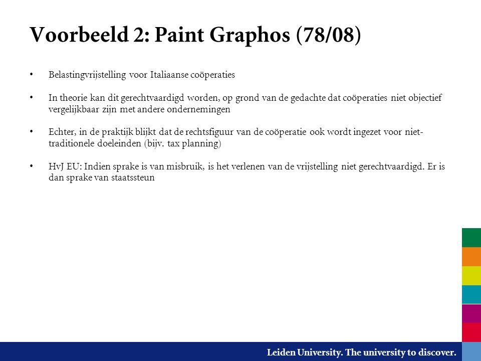 Voorbeeld 2: Paint Graphos (78/08)