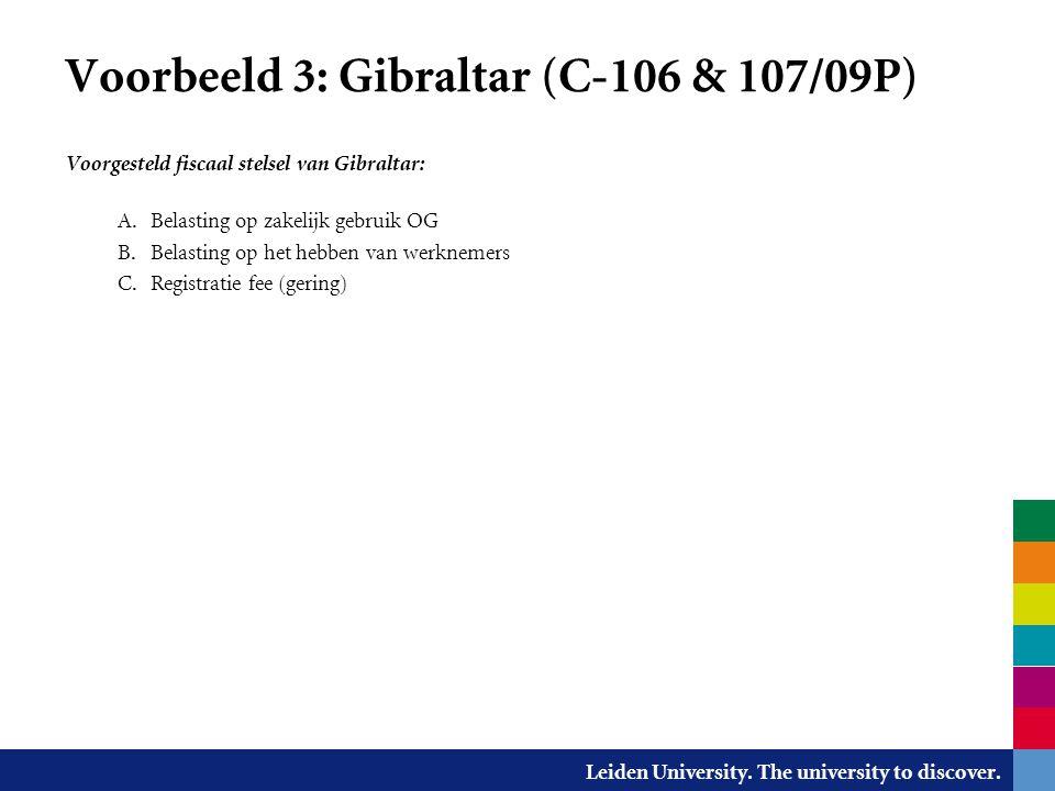 Voorbeeld 3: Gibraltar (C-106 & 107/09P)