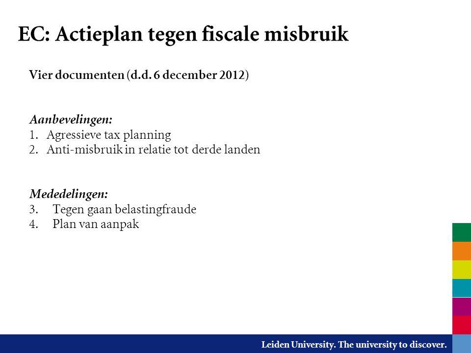 EC: Actieplan tegen fiscale misbruik