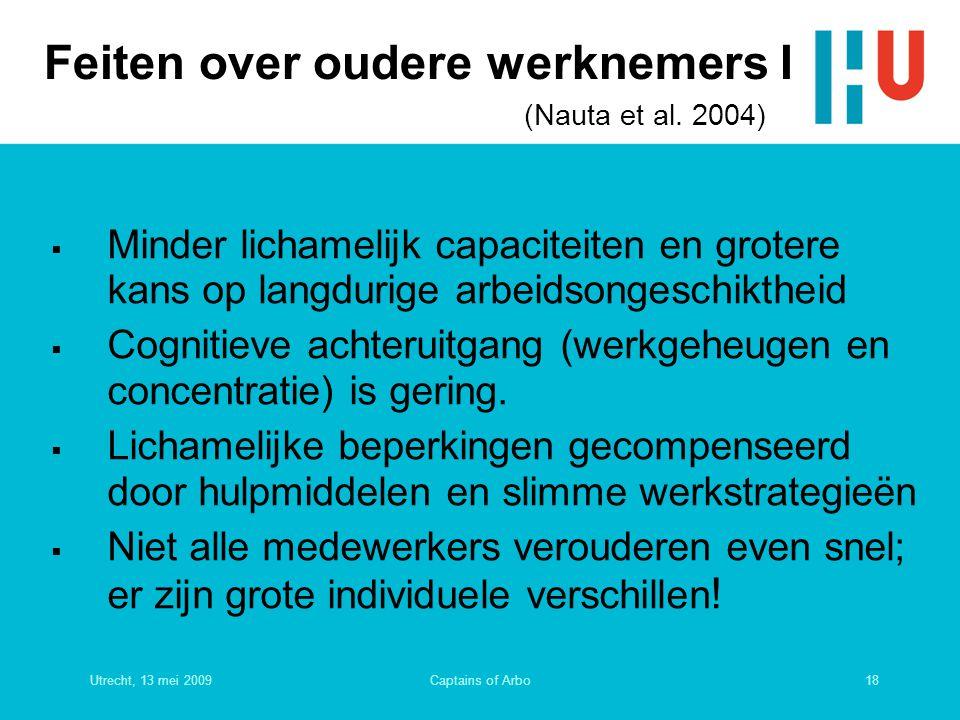 Feiten over oudere werknemers I (Nauta et al. 2004)