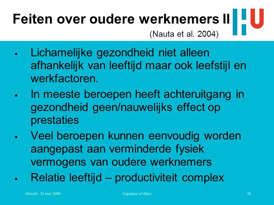 Feiten over oudere werknemers II (Nauta et al. 2004)