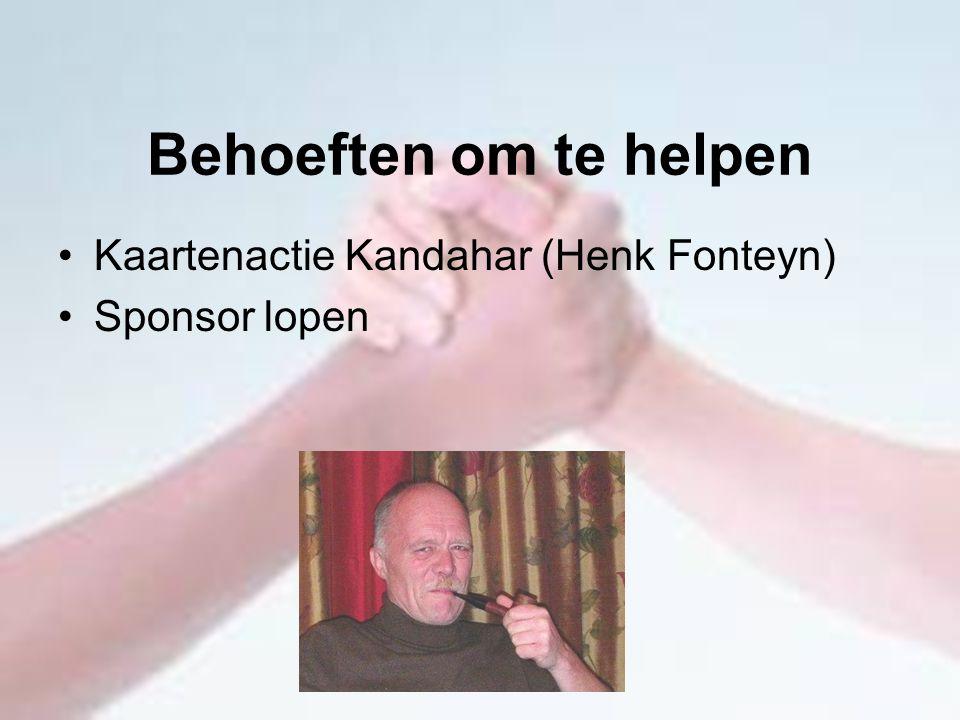 Behoeften om te helpen Kaartenactie Kandahar (Henk Fonteyn)