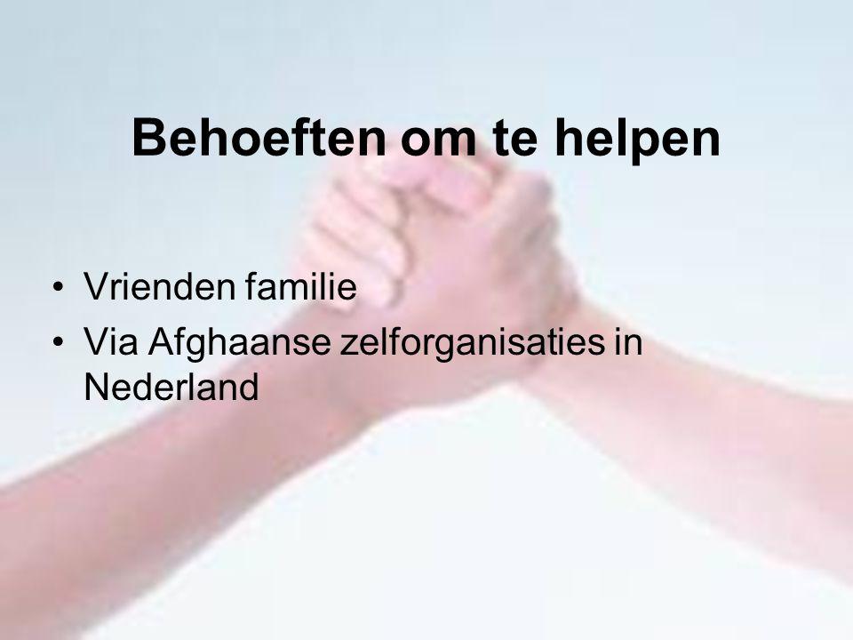 Behoeften om te helpen Vrienden familie