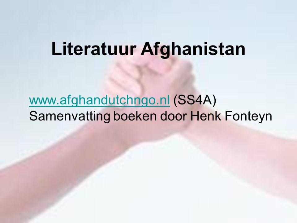 Literatuur Afghanistan