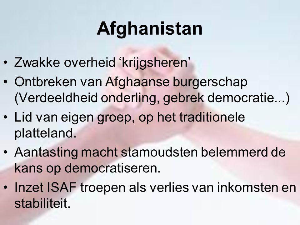 Afghanistan Zwakke overheid 'krijgsheren'