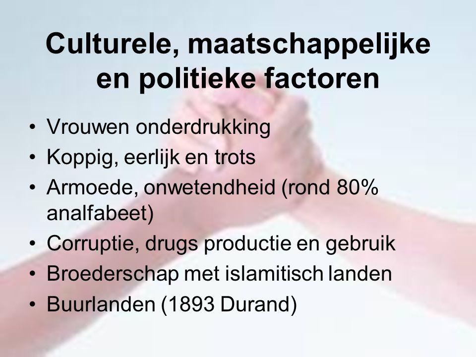 Culturele, maatschappelijke en politieke factoren
