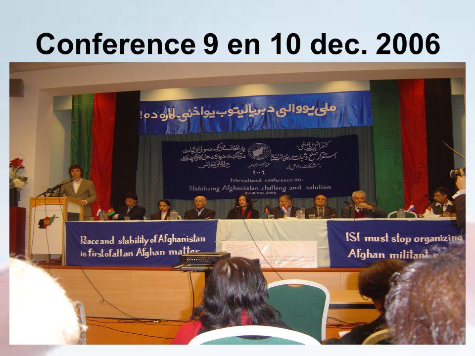 Conference 9 en 10 dec. 2006