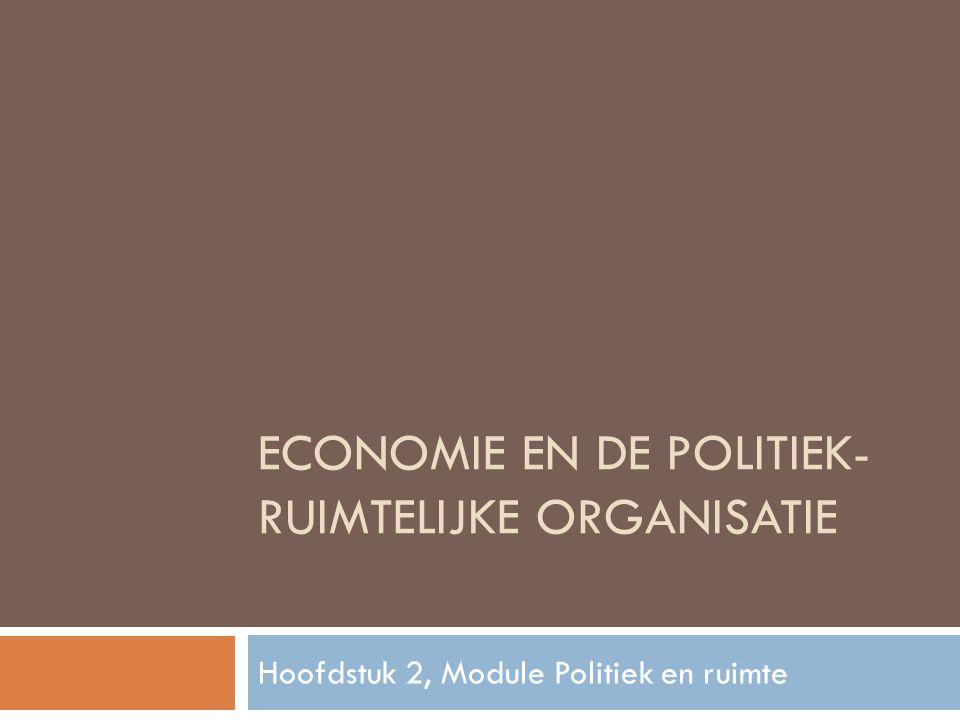 Economie en de politiek-ruimtelijke organisatie