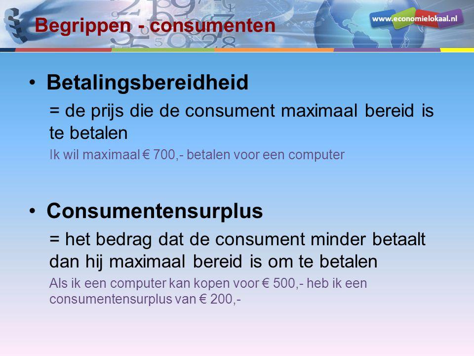 Begrippen - consumenten