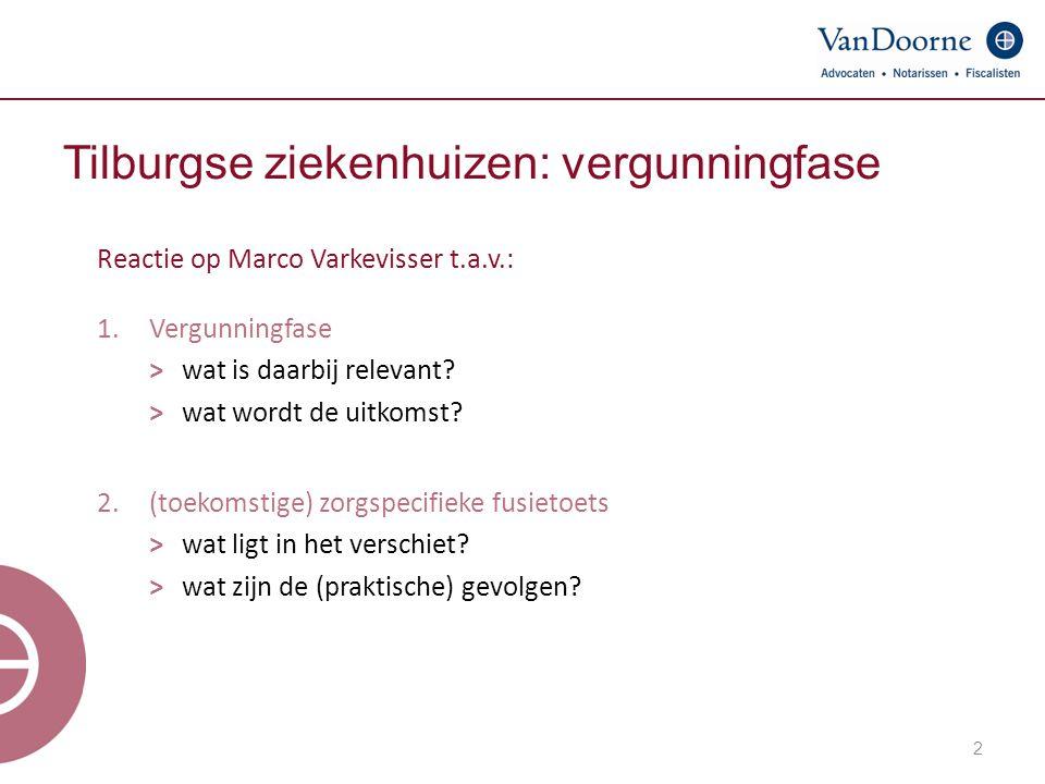 Tilburgse ziekenhuizen: vergunningfase