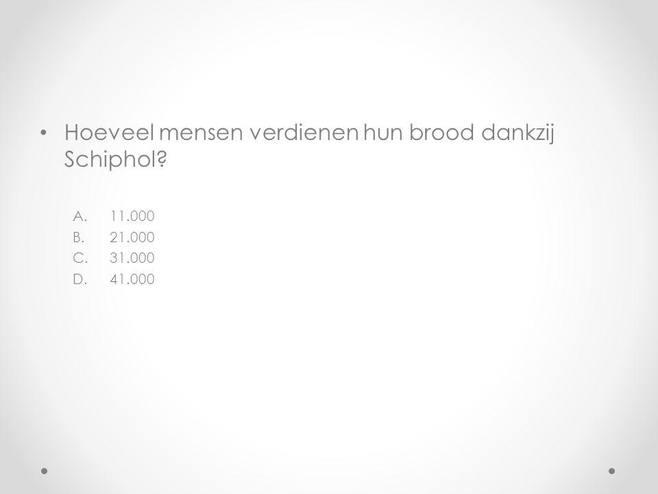 Hoeveel mensen verdienen hun brood dankzij Schiphol