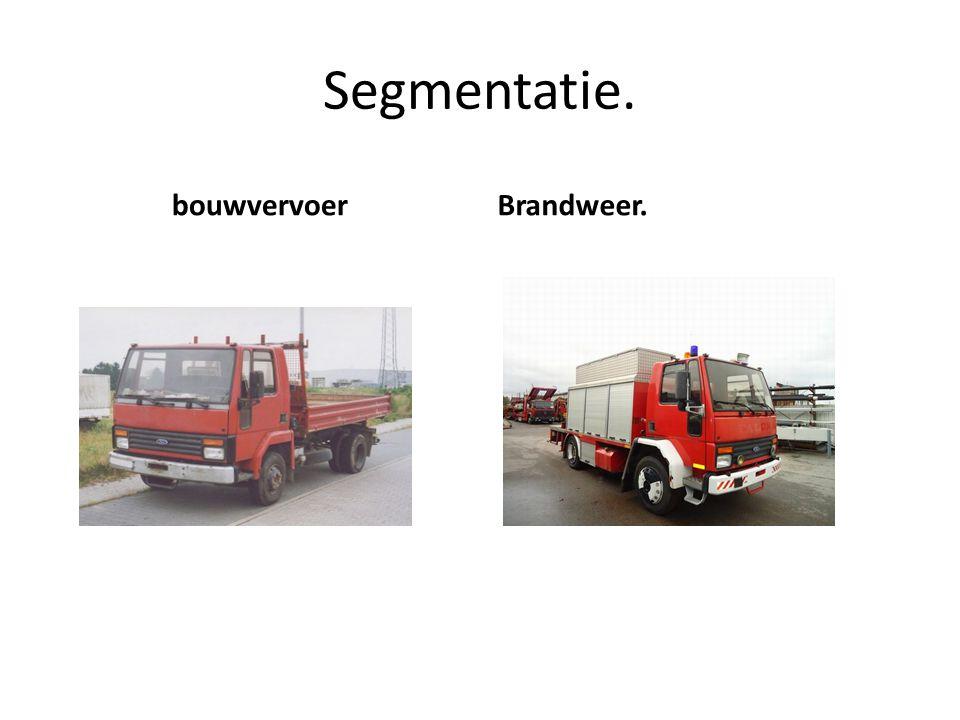 Segmentatie. bouwvervoer Brandweer.