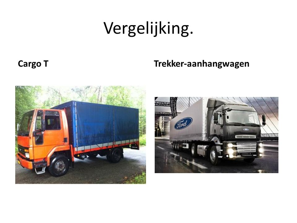 Vergelijking. Cargo T Trekker-aanhangwagen