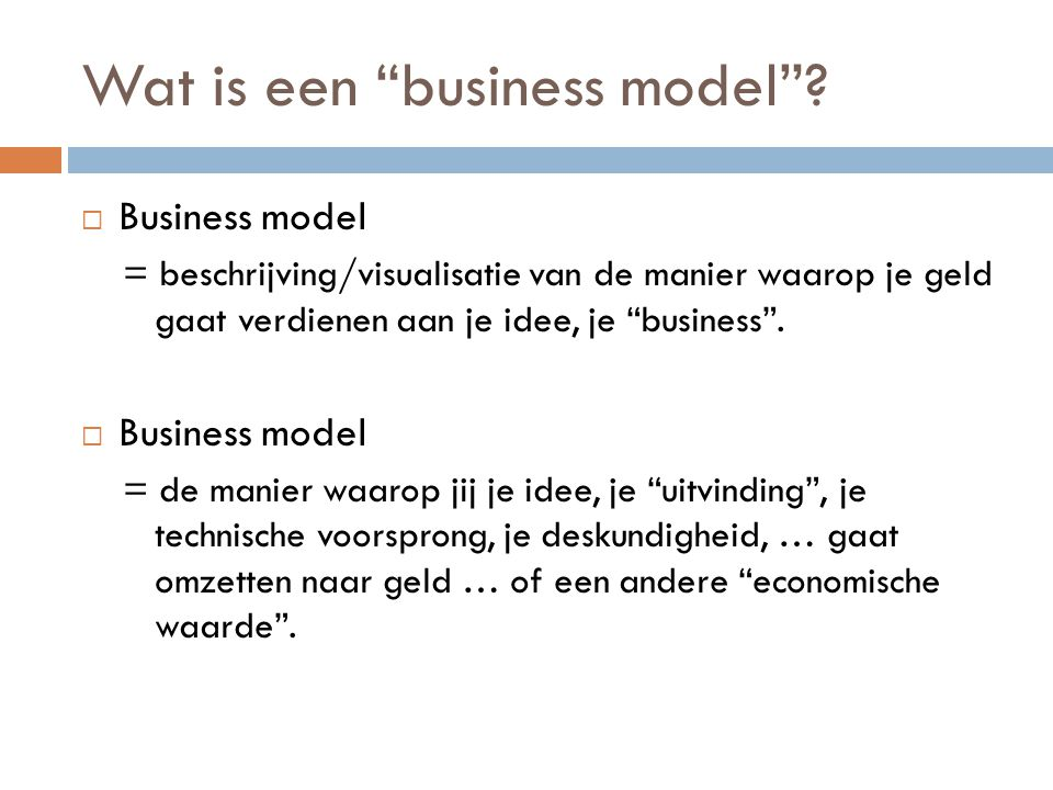 Wat is een business model