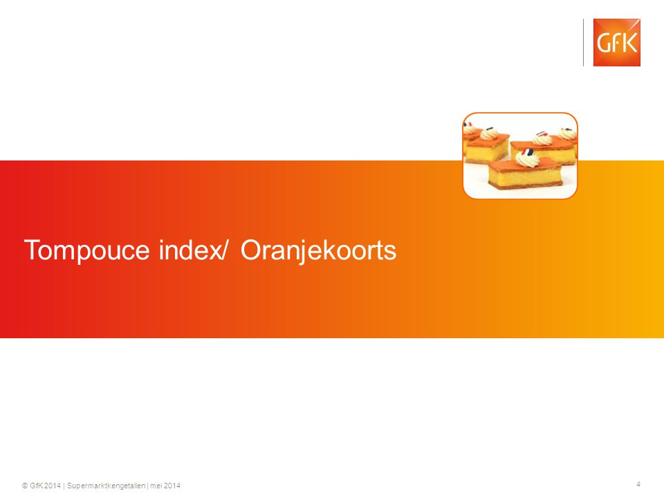 Tompouce index/ Oranjekoorts