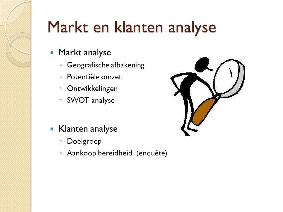 Markt en klanten analyse