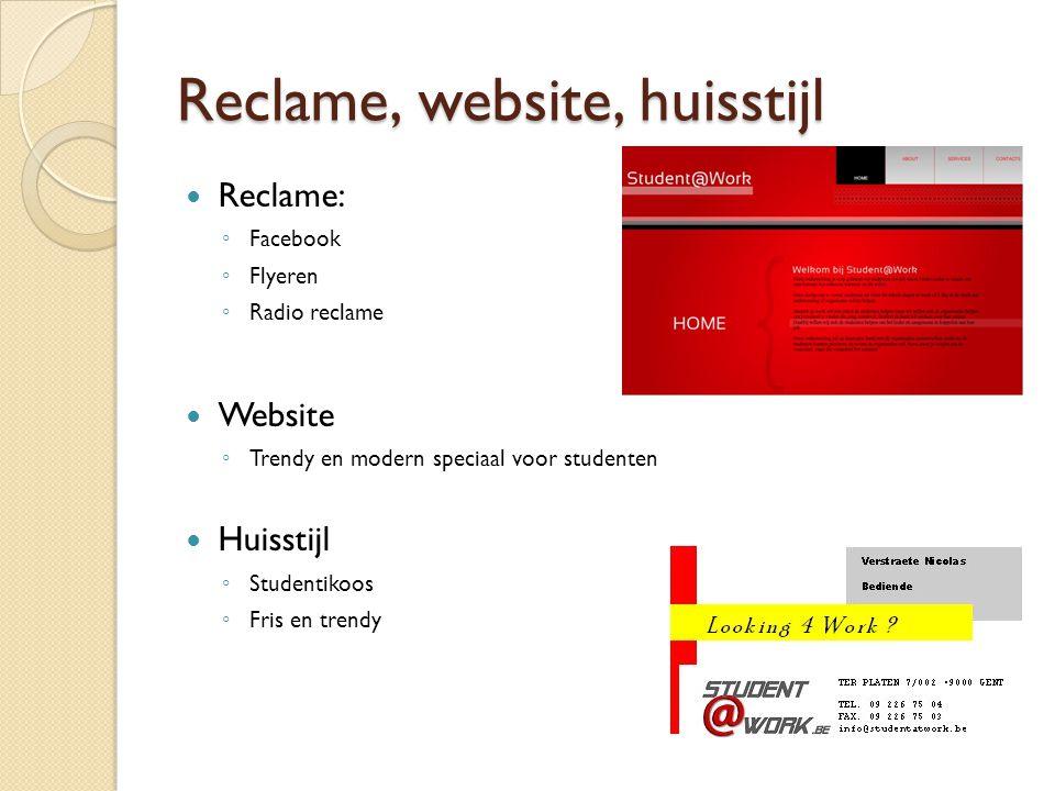 Reclame, website, huisstijl