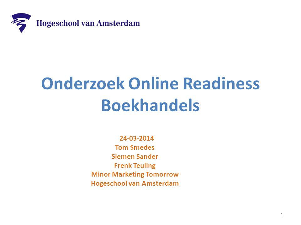 Onderzoek Online Readiness Boekhandels