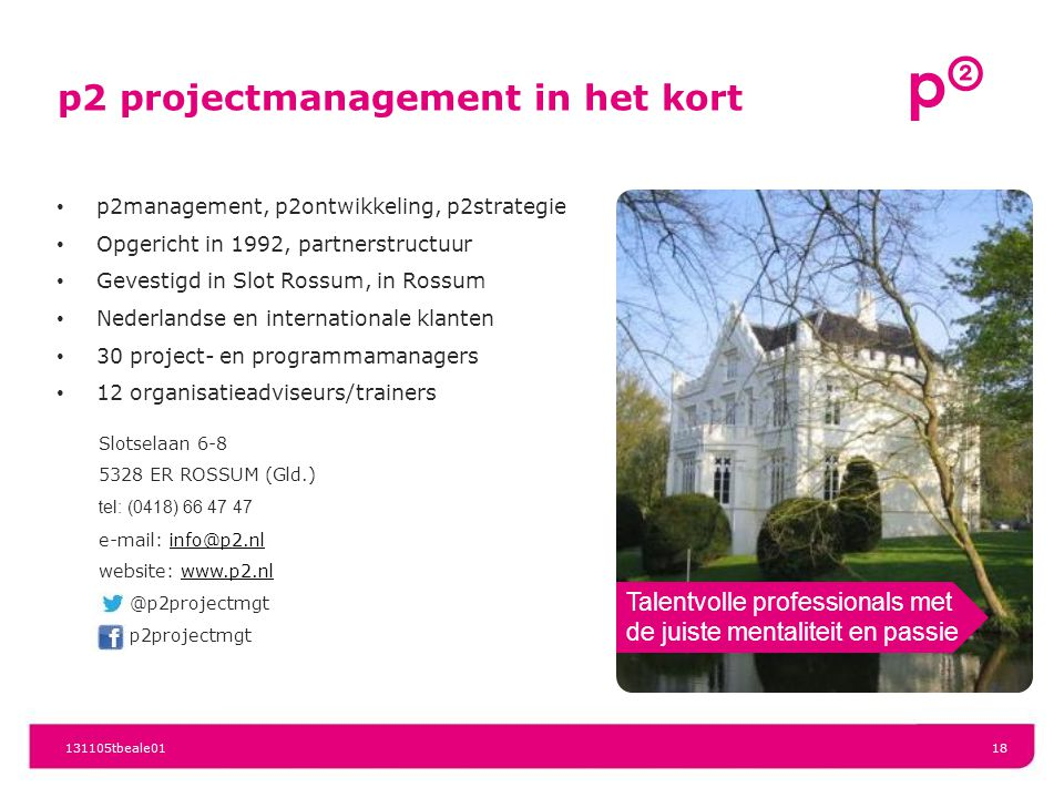 p2 projectmanagement in het kort