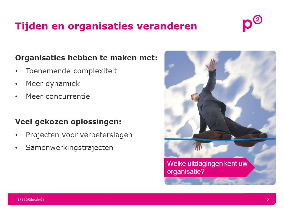 Tijden en organisaties veranderen