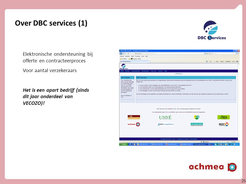 Ondersteuning DBC services
