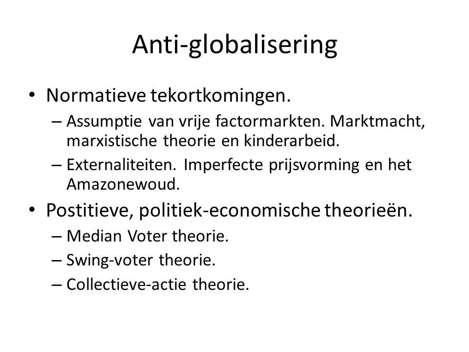 Anti-globalisering Normatieve tekortkomingen.