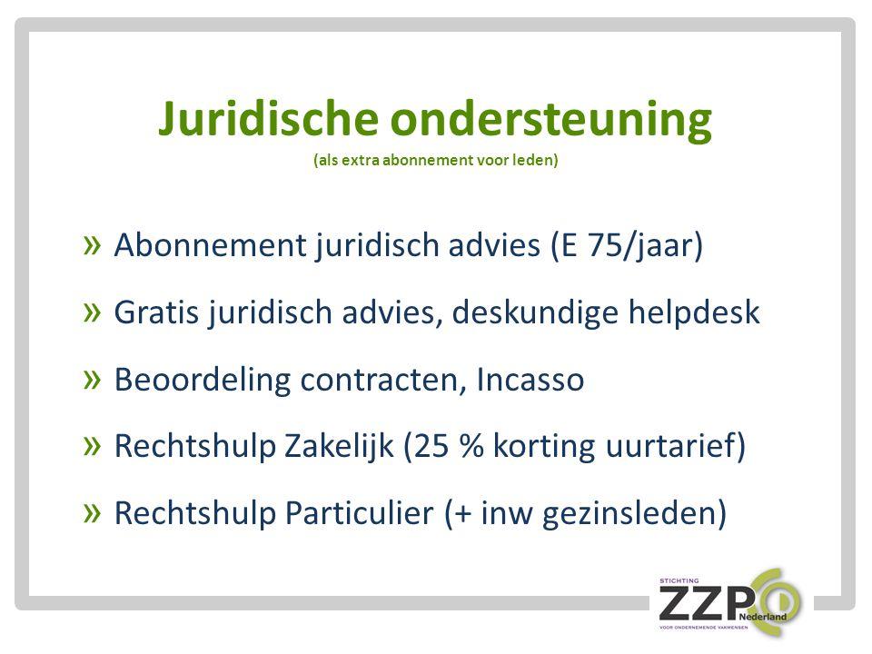 Juridische ondersteuning (als extra abonnement voor leden)