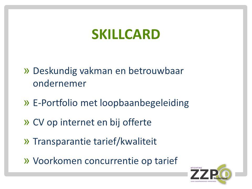 SKILLCARD Deskundig vakman en betrouwbaar ondernemer