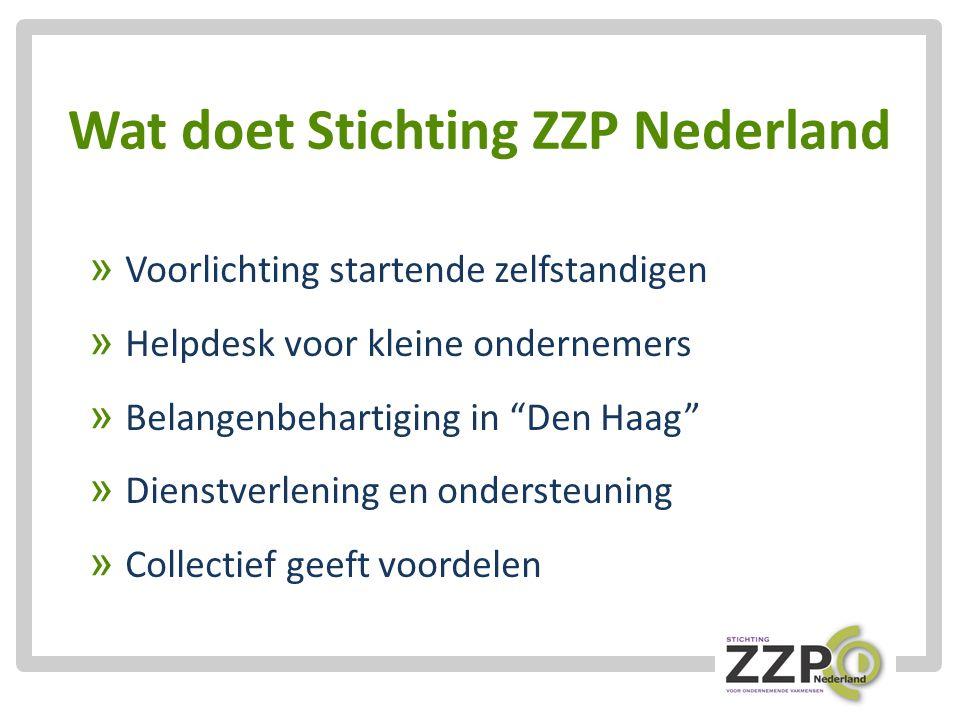 Wat doet Stichting ZZP Nederland