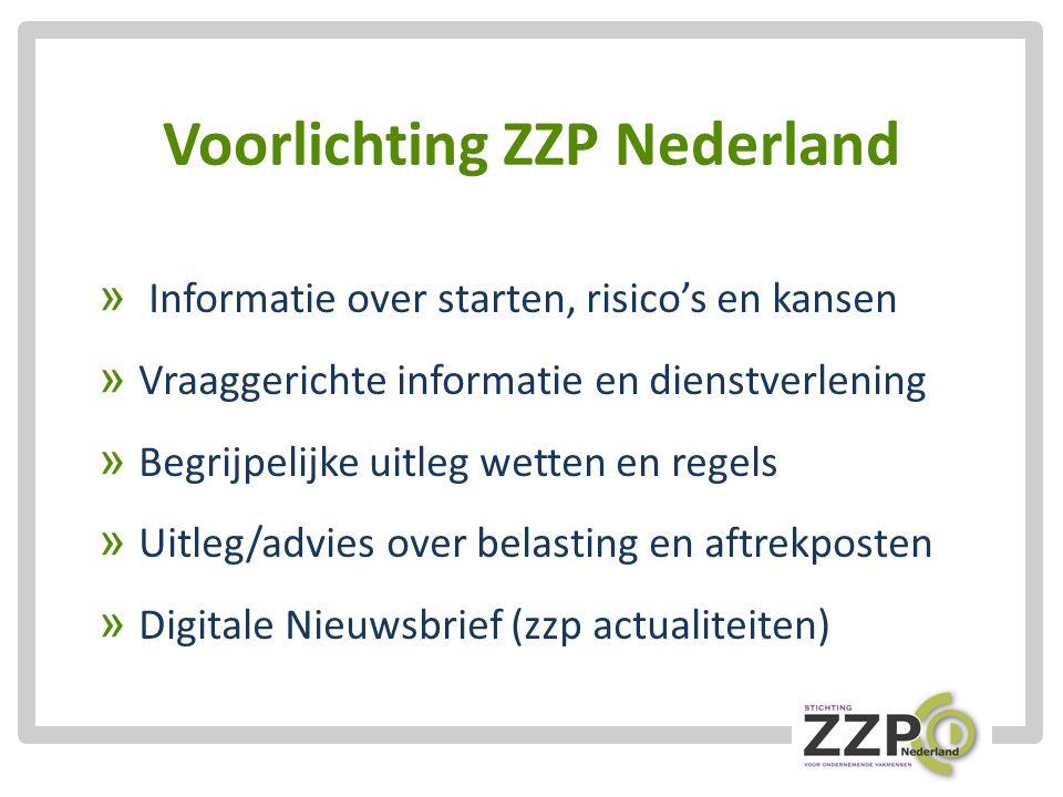 Voorlichting ZZP Nederland