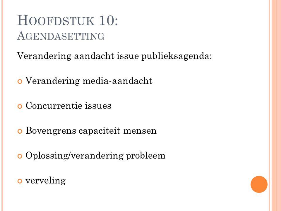 Hoofdstuk 10: Agendasetting