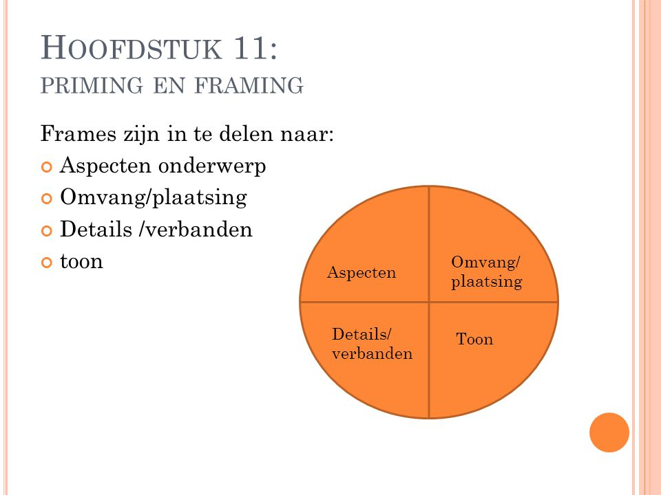 Hoofdstuk 11: priming en framing