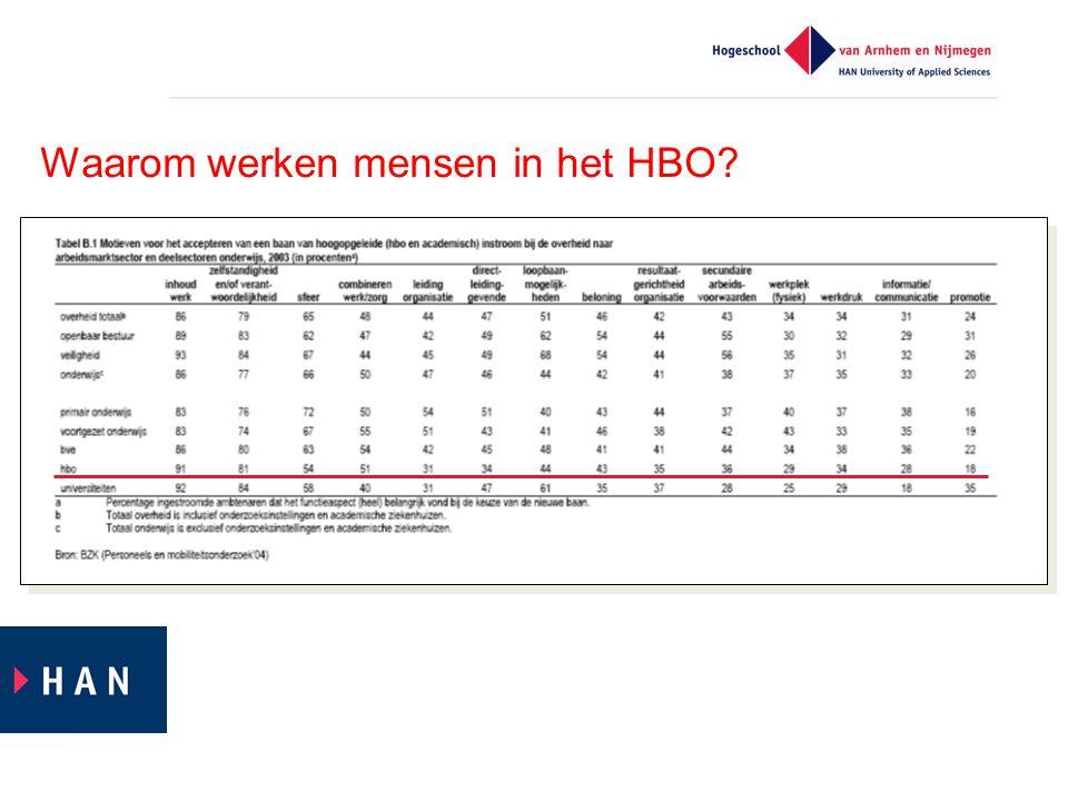 Waarom werken mensen in het HBO