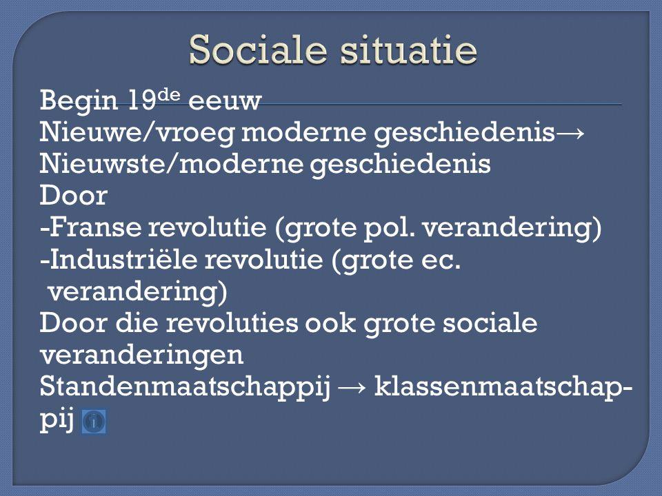 Sociale situatie
