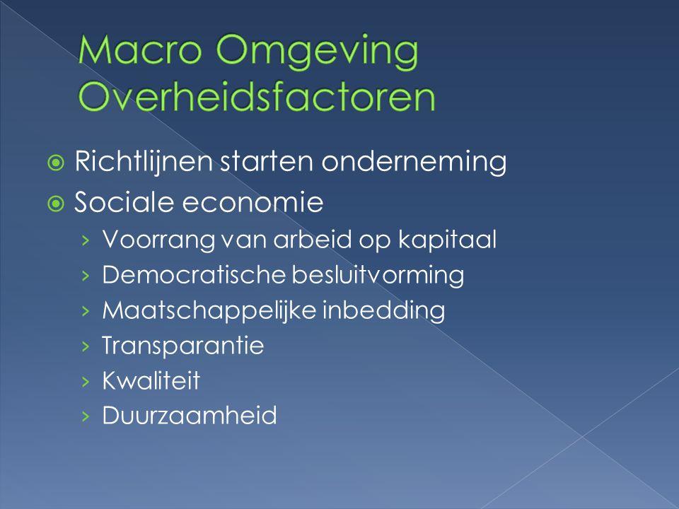 Macro Omgeving Overheidsfactoren