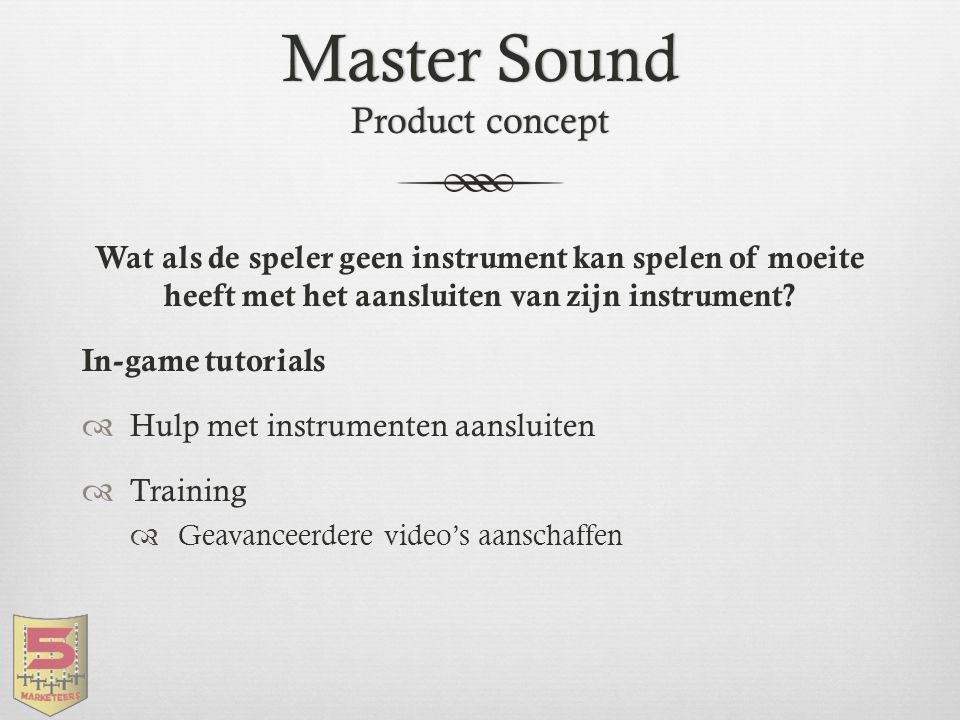 Master Sound Product concept