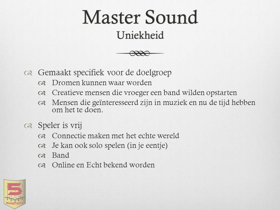 Master Sound Uniekheid