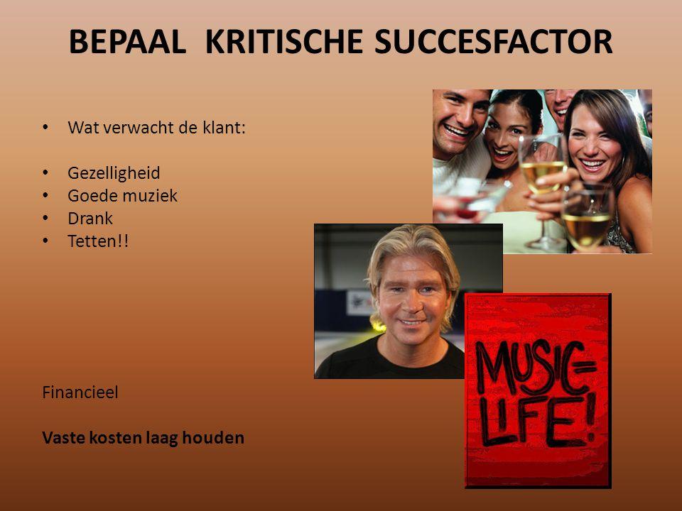 BEPAAL KRITISCHE SUCCESFACTOR