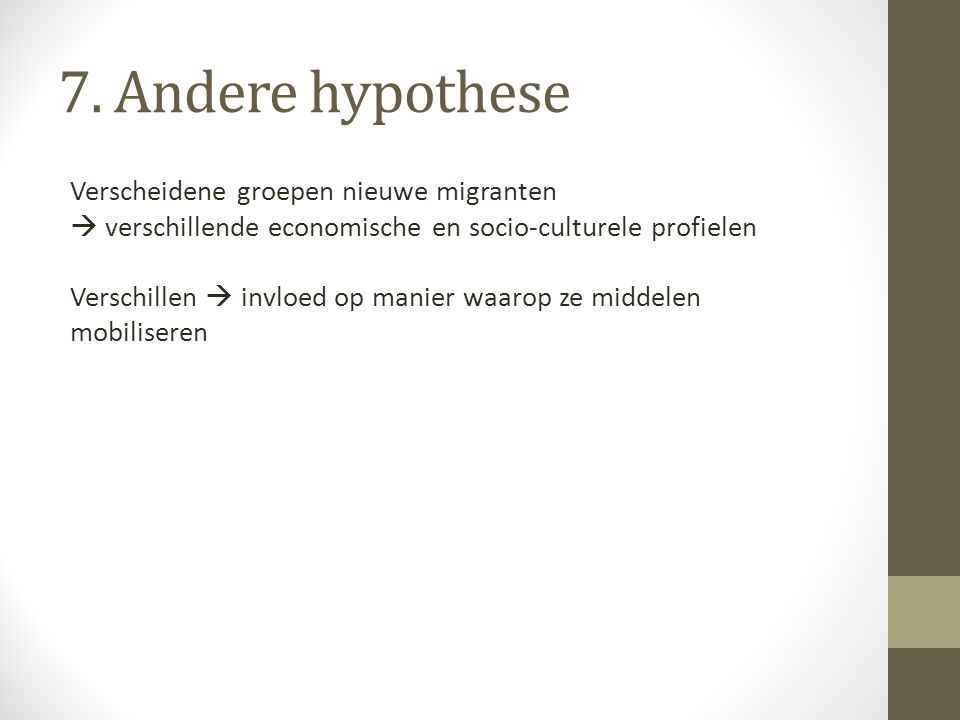 7. Andere hypothese